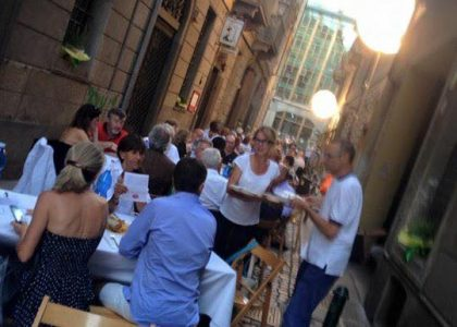 Cena in via – report