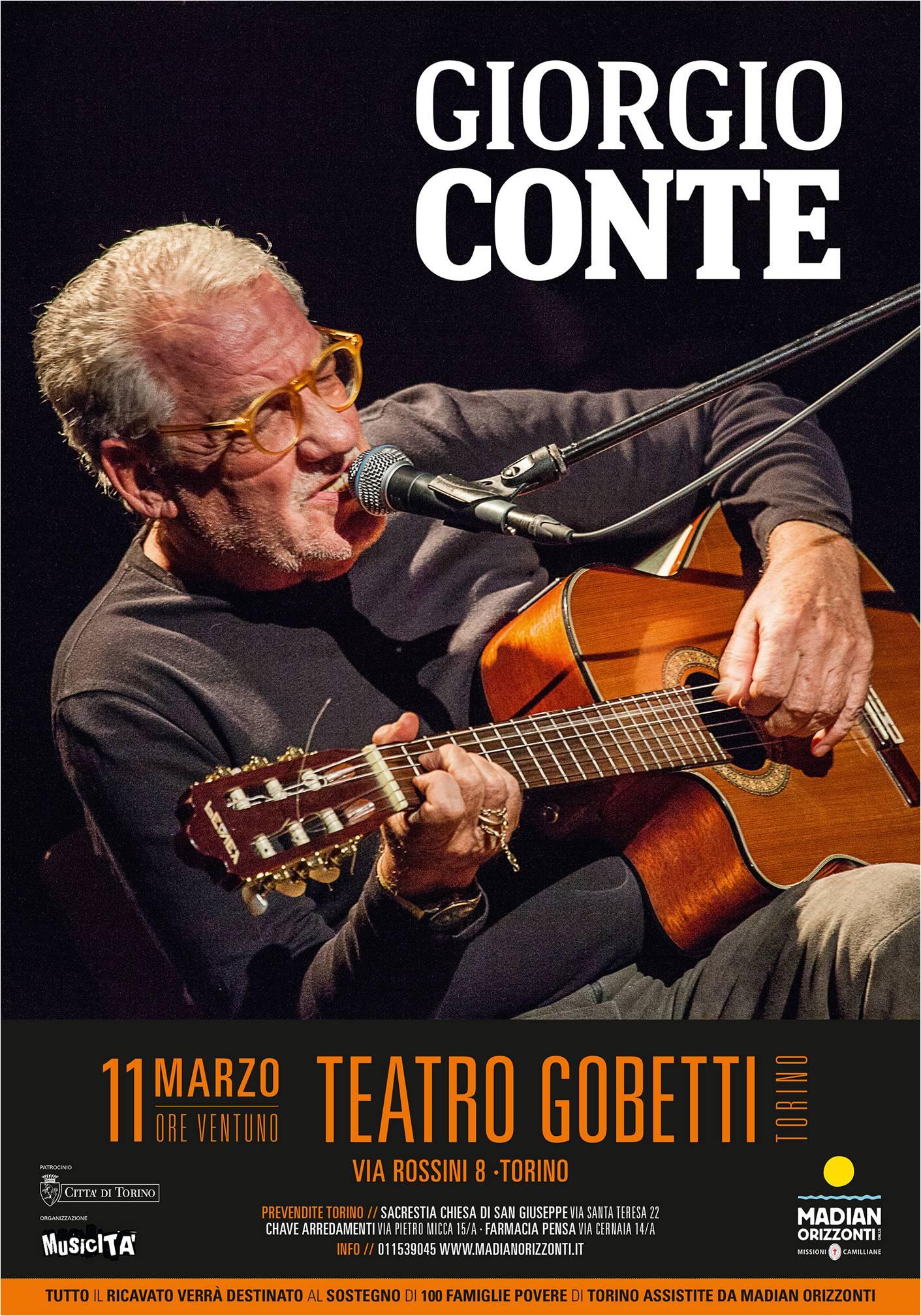 Giorgio Conte al Teatro Gobetti