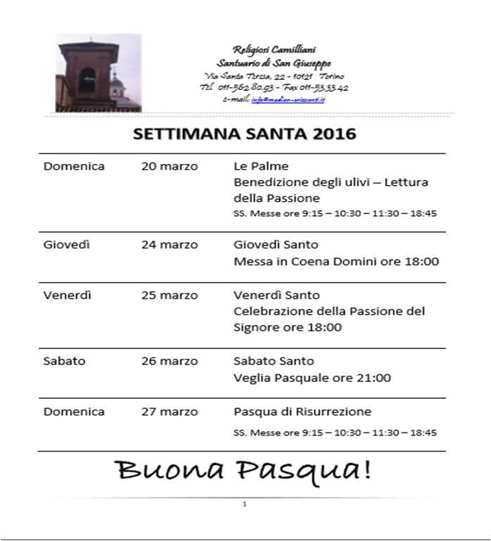 Settimana Santa 2016