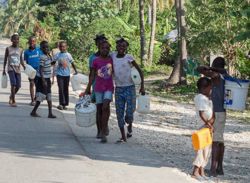 Costruire un pozzo ad Haiti