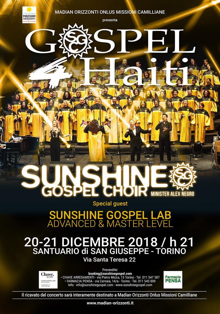 Sunshine Gospel Choir – Concerto 20 e 21 dicembre 2018
